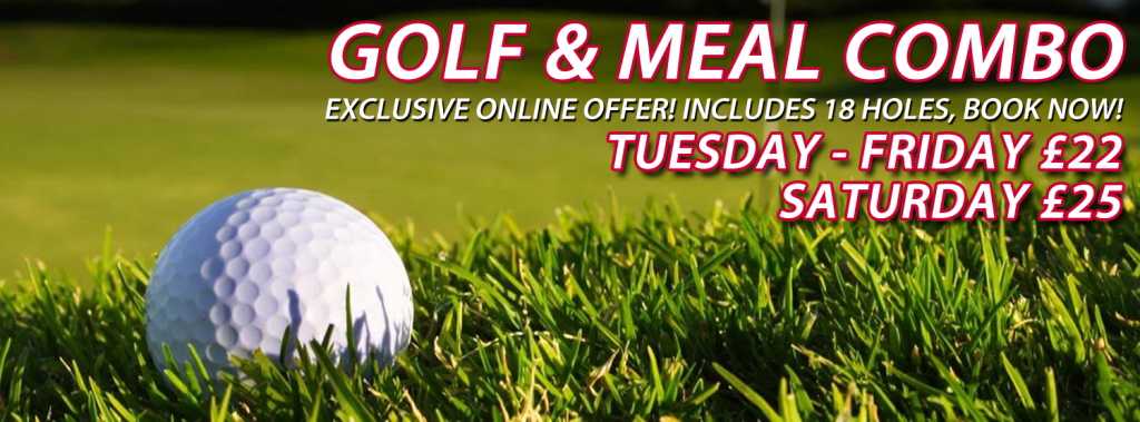 Golf & Meal Combo Available Exclusive with Online Booking!
